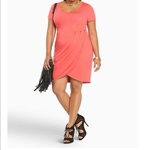 Torrid 4 Paradise Pink Tulip Jersey Mini Dress